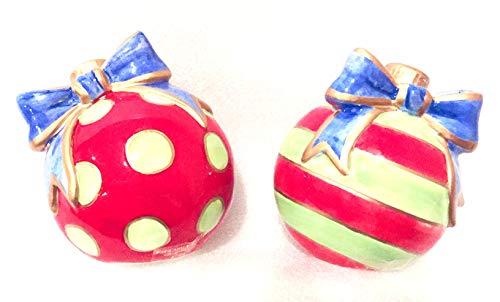 Fitz Und Floyd Ornamente (2005 Fitz & Floyd Kringle Christmas Ornaments Salz- und Pfefferstreuer Set)