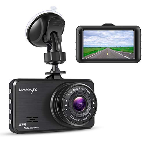 Dash Cam FHD 1080P In Car Camera Dashcam for Cars,170° Wide Angle 3 Inch LCD Screen WDR Loop Recording G-Sensor Motion Detection Parking Monitor