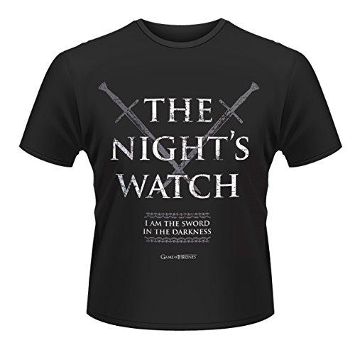 Plastic Head Herren T-Shirt, Game Of Thrones The Night Watch, GR. Large (Herstellergröße: Large), Schwarz (Night Watch Game Of Thrones)