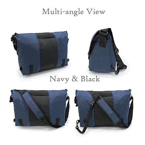 ENKNIGHT , Borsa Messenger  azul marino/negro Medio tamaño azul marino/negro Medio tamaño