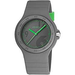 M-Watch Unisex Quartz Watch with Grey Dial Analogue Display and Grey Silicone Strap WYO.15180.RH