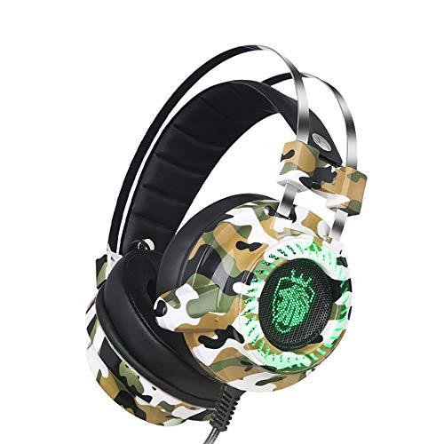 Mogustore Auriculares para juegos profesionales Tarjeta de sonido incorporada Auriculares Con Cable DE 7.1 Canales Estéreo Auriculares Con Cable Con micrófono para Gamer