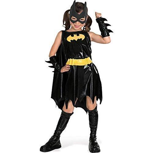 Mädchen-Kostüm 'Batgirl' - Offiziell Lizenziertes Superhelden-Kostüm - Welttag des Buches, Halloween, Fasching - Größen: EU 98-140 - Schwarz, EU (Lizenzierte Kostüme Offiziell)