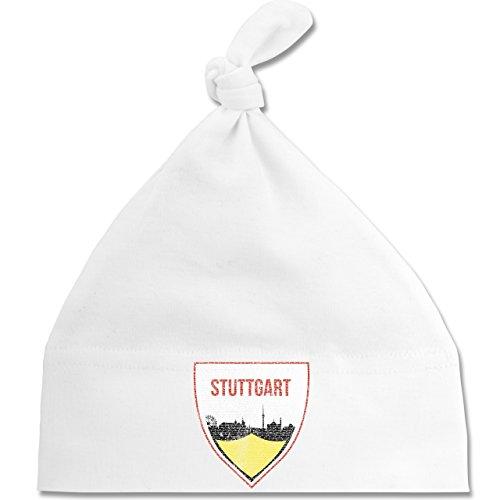 Sport Baby - Fußball Stuttgart - Unisize - Weiß - BZ15 - Baby Mütze mit einfachem...