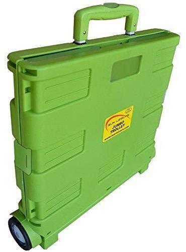 Carrito de transporte MP Essentials. Carrito de transporte, capacidad de 40kg, ideal para las compras y campamento lime green