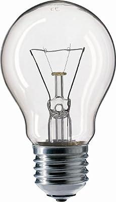 10x Philips Glühlampe / Glühbirne 60W klar, E27 AGL