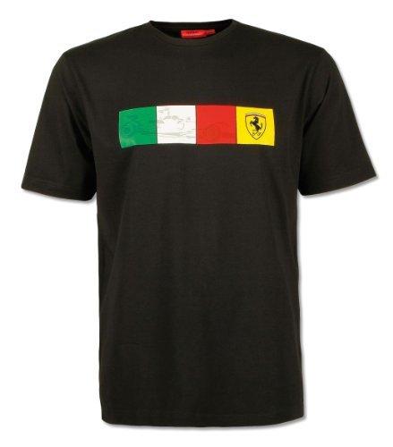 ferrari-scuderia-black-f1-t-shirt-check-italian-mens-small