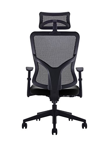 417Iv6%2BhOLL - Office Hippo High Back Mesh Office Chair with Adjustable Arms and Mesh Headrest, Fabric, Black