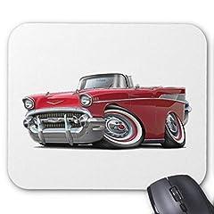 Idea Regalo - 1957 Chevy Belair Red Convertible Mouse Pad 25cm x 30 cm