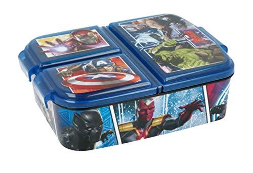 Theonoi Kinder Brotdose / Lunchbox / Sandwichbox wählbar: Avengers - Mickey - Paw aus Kunststoff BPA frei - tolles Geschenk für Kinder (Avengers)