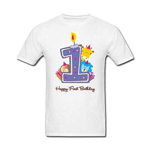 Pepperclub Baby Boys Tshirt - 1st Birthday (boy-1st-white_White_6 - 12 Months)