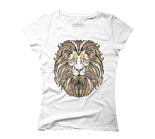 Lion Women's Graphic T-Shirt - Design By Humans White