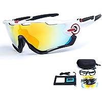 Lunettes de cyclisme 2LS Kit, lunettes de soleil de bicyclette anti-UV, courses de route sports de plein air(jaune)