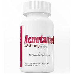 Acnetame- Vitamintabletten zur Behandlung von Akne - 60 natürliche Nahrungsergänzungsmittel-Tabletten - Helfen bei fettiger Haut, hormonell bedingter Akne und sorgen für eine reine Haut bei Frauen, Männern, Jugendlichen und Erwachsenen