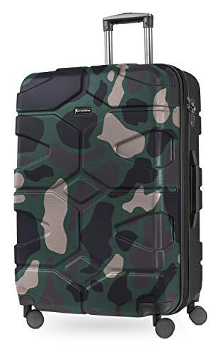 HAUPTSTADTKOFFER - X-Kölln - Hartschalen-Koffer Koffer Trolley Rollkoffer Reisekoffer, TSA, 76 cm, 120 Liter, Camouflage matt