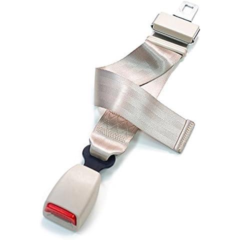 SBEPros Ajustable Estensione della cintura di sicurezza di autoveicolo per2008 Toyota Land Cruiser Seconda file centrale, 24-66cm, Beige - Cruiser Cintura Di Sicurezza