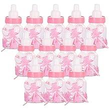 Siumir 12PCS Biberón de Plástico Mini Botella de Caramelo Caja de Regalo para Fiesta de Baby