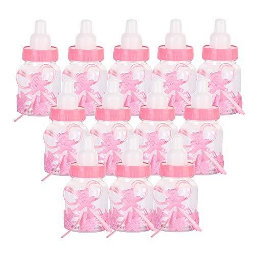 Flasche Candy Flaschen Babyflaschen - Baby Shower Party, Geburtstagsfeier Dekoration 12 pcs (Pink) ()