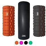 Protone - Rodillo de espuma con puntos gatillo para masaje, physiothérapia, movilidad, crossFit & yoga - color negro