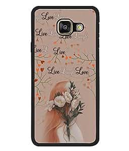 PrintVisa Designer Back Case Cover for Samsung Galaxy A3 (6) 2016 :: Samsung Galaxy A3 2016 Duos :: Samsung Galaxy A3 2016 A310F A310M A310Y :: Samsung Galaxy A3 A310 2016 Edition (Life One Life)