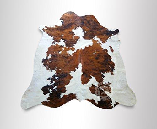 ALFOMBRA DE PIEL DE VACA Tricolor 150 x 180 cm – Calidad Premium de PIELES DEL SOL