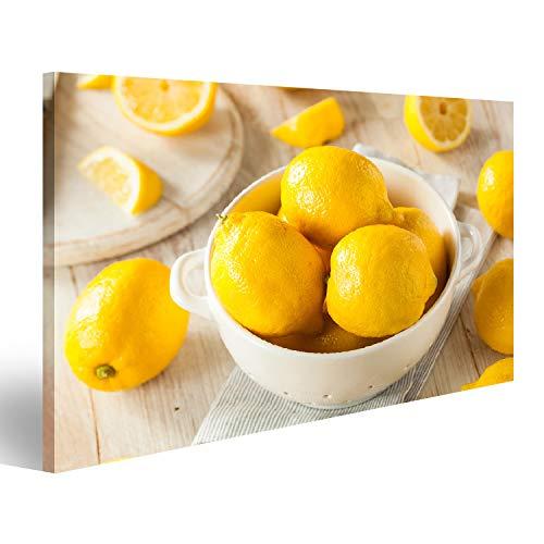 islandburner Bild auf Acrylglas Rohe organische gelbe Zitronen-Zitrusfrucht gebrauchsfertig Wandbild Acrylglasbild Glasbild UKP