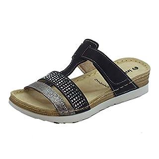 INBLU Women's Fashion Sandals Black Size: 6.5