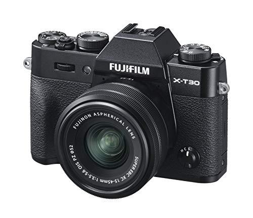 Fujifilm X-T30, Kit cámara con Objetivo Intercambiable XC15-45/3.5-5.6, Color Negro