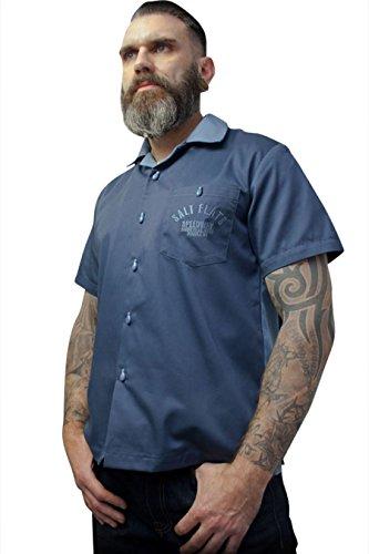 Rumble59 - Bowling Shirt - Salt Flats Speedway - dunkelblau, L