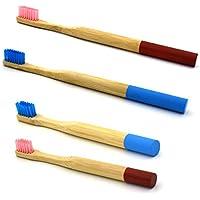 Healifty Bambuszahnbürste 2 Paar Runde Griff Bambus Zahnbürste Natürliche Bambus Eco freundliche weiche Borsten... preisvergleich bei billige-tabletten.eu