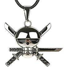 CoolChange Collar de One Piece con Colgante Jolly Roger de Lorenor Zorro b5592e802e7
