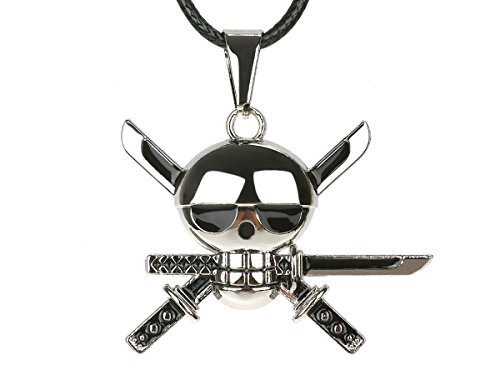 CoolChange Collar de One Piece con Colgante Jolly Roger de Lorenor Zor