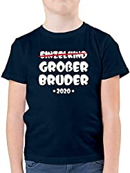Geschwisterliebe Kind - Einzelkind Großer Bruder 2020-140 (9/11 Jahre) - Dunkelblau - F130K - Kinder Tshirts und T-Shirt für Jungen