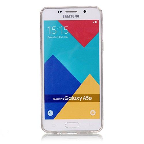 Coque Galaxy A3 2016,Transparent Housse Etui Couverture pour Samsung Galaxy A3 2016,Ekakashop Ultra Mince Slim-fit imprimée Coque de Protection en Hybrid Crystal Clear PC Plastique Silicone Arrière Co Fleur de Pêche