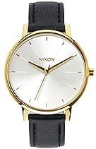 Nixon Damen-Armbanduhr Kensington Analog Quarz Leder A1081964-00