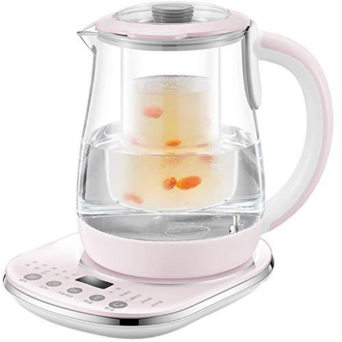 ZHAO ZHANQIANG Gesundheitstopf, vollautomatisches verdicktes Glas, Wasserkocher, Blumentee-Topf, Teekocher für zu Hause (Farbe : Pink)