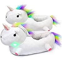 XPartner Pantofole Peluche tridimensionali Cartoon Pantofole calde per Unicorno Inverno Caldo Cotone Scarpe