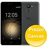 BQ Aquaris U Plus - Smartphone de 5'' (Bluetooth, Qualcomm Snapdragon 430 Octa Core, memoria de 32 GB, 3 GB RAM, cámara 16 MP, multitáctil, Android 6.0.1 Marshmallow), negro y gris antracita