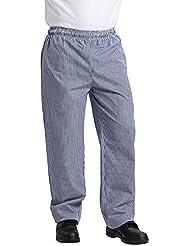 Pantalon chef petits carreaux bleus et blancs Vegas Whites