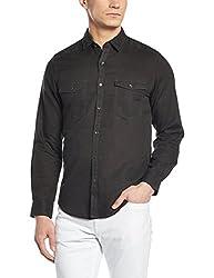 Peter England Mens Casual Shirt (8907306726066_ESF51504374_44_Black)