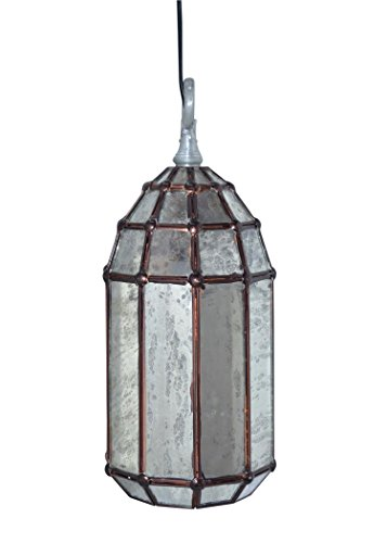 Emporio Arts NEUF Emporio Bazaar vintage Stress Verre long Abat-jour moderne Pendentif lumière, verre, E27, 60 Watts