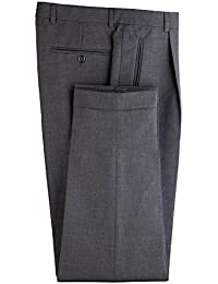 Traje Pantalones/Pantalón camarero gentleline, cintura pliegues, antracita