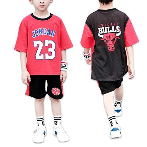 Chicago Bulls Michael Jordan 23# Jungen Basketball Freizeit T Shirt Trainingsanzüge Kinder - Kinder T-Shirt Jordan