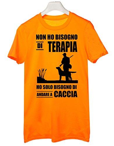 Tshirt non ho bisogno di terapia ho solo bisogno di andare a caccia - Tutte le taglie by tshirteria Arancione