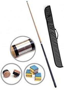 Taco de billar profesional con bolsa de transporte (juntas de acero y estructura de ABS (2 piezas))