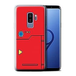 Stuff4® Hülle/Case für Samsung Galaxy S9 Plus/G965/Rot Muster/Anime Cartoon Kodex Kollektion