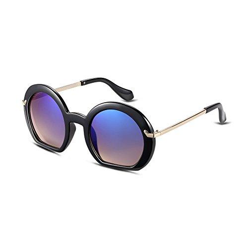NYKKOLA occhio di gatto lenti colorate a specchio classico telaio in plastica moda donna occhiali da sole UV400, Blue