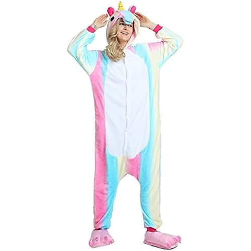 Tuopuda Animal Licorne Pijamas Kigurumi la Ropa de noche del Traje del Anime de Cosplay Nightclothes de Navidad del Unicornio Onesie