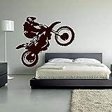 Motocross Vinyl Wandtattoo Motorrad Moto Wandkunst Home Decals Für Wohnzimmer Kühlen Kopf...