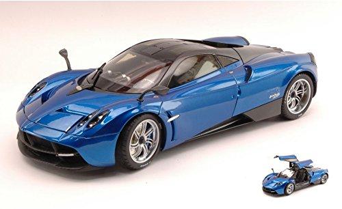 pagani-huayra-2012-metallic-blue-carbon-gt-edition-118-welly-auto-stradali-modello-modellino-die-cas